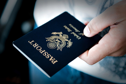 Passport in hand