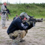 Officers wait for individual shoot command five seconds for a first-round hit at 110 yards