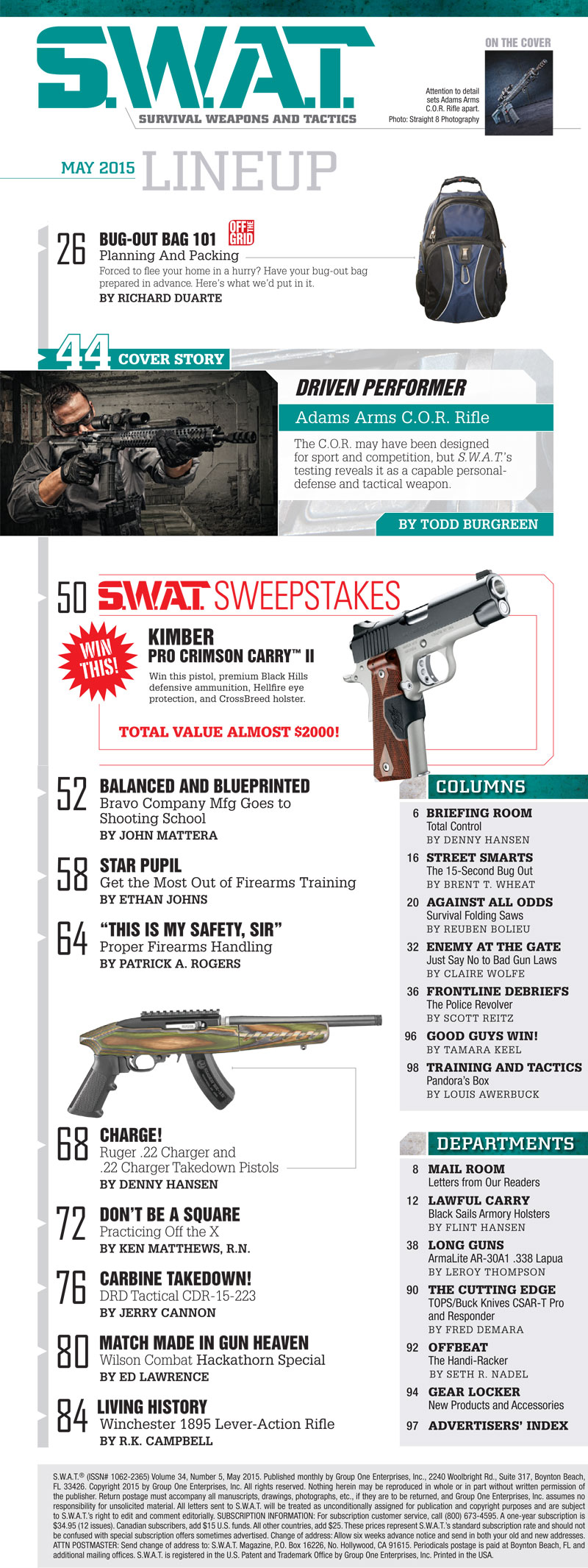 May 2015 Issue Lineup | GUN MAGAZINE | SWAT VAULT