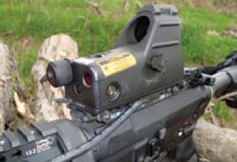 Fraser-Volpe MARS sight. Pros: Fast-to-adjust dot intensity including night-vision setting, integral laser, good battery life, quick detach, and made in USA. Cons: Rather spendy at around $1,000, and dot is too high for any co-witness with iron sights.