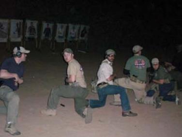 Handgun martial-arts class checks six.