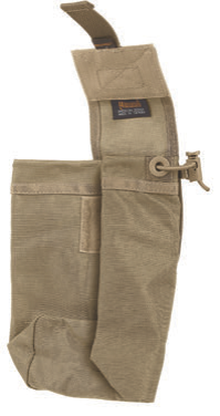Velcro flap maintains Rollypoly in its folded position and doubles as a lid or can be concealed completely within the bag.