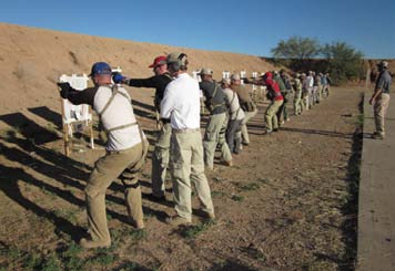 Fed class practices body aiming.