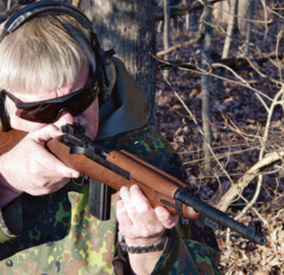 Thompson fires the Legacy Sports M-1 .22. He found it handles and operates much like G.I. Carbine.