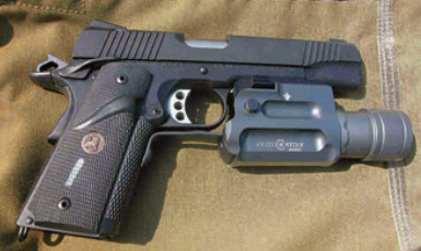 1911 has had a long and illustrious career in the U.S. Military. This is MCSOCOM ICQB pistol, serial number 001. Like all 1911s, it was a great gun.