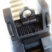 Rear sight is adjustable for windage.
