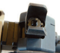 Elevation adjustments to front sight are made in usual manner.