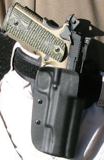 AA kit fitted to SIG Scorpion and ensconced in Blade-Tech holster.