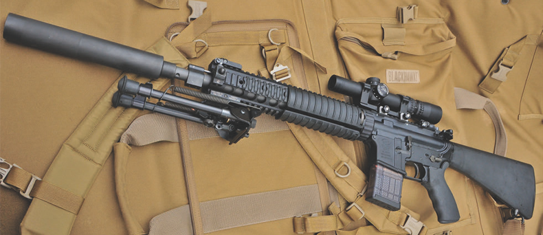 High Caliber MK12 Mod1 with Ops Inc. 12th model suppressor is a formidable weapon.