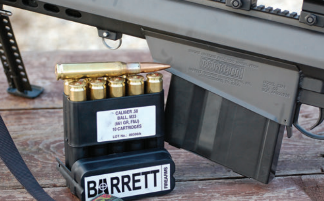 Barrett 661-grain FMJ was by far the most accurate round tested.