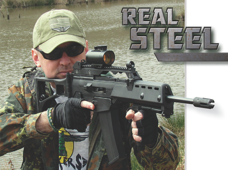 Forearm comes standard with rail to allow addition of vertical foregrips or tactical lights.