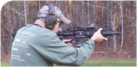 Magpul AFG—shown here on an SBR—was designed specifically to support a C-clamp grip.