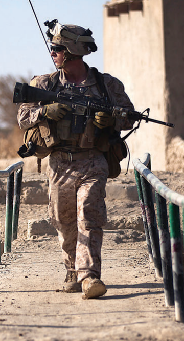 What's the only item of primary equipment this warrior is wearing that is not sized to his frame? The stock on his weapon—and it's challenging his potential to use it to his fullest ability. Photo: Cpl. Lodder, USMC