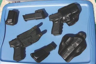 An assortment of holsters and accessories for a particular platform. There is no single answer for every situation.