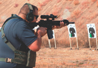 Dave Timm, Training Coordinator and Technical Support for Huldra Arms, shoots his Huldra Tactical Evo. Photo: Susan Kimman
