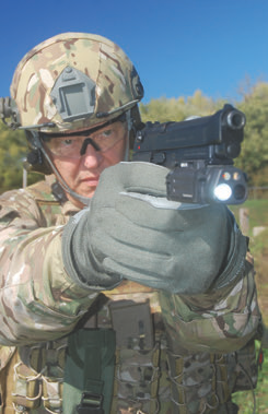 Barry Subelsky, former Ranger, retired FBI and retired Chief of Operating Temperature -40°C to +65°C Police, shoots M9A1 with DBAL-PL attached.