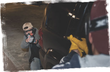 Vehicles offer concealment and some level of cover from incoming rounds.
