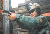 Kris Rambur runs DBAL-PL at EAG Shoot House class in Alliance, Ohio.