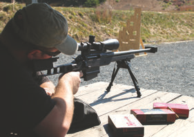 Initial accuracy testing at 100 yards with AR-30A1.