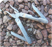 Obviously all-Leatherman, Supertool 300 is back with enhancements such as replaceable cutters, locking tools, and comfortable rolled grip.