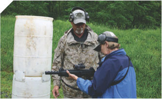 Ken familiarizes student with Beretta Storm Carbine.