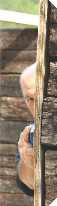 Ken Hackathorn demonstrates use of maximum cover while employing third eye principle.