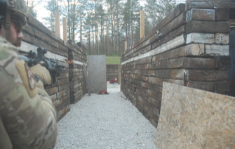 Same target array during daylight. You know what the hardest thing about shooting at night is? It's dark.... White light does not equal daylight, but the proper amount of light gives you the opportunity to acquire, identify and prosecute threats efficiently.