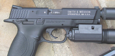 M&P22's slide is milled from aluminum forging and perfectly executed.