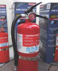 Maintain fire extinguishers on every level of your home and inspect them twice a year.