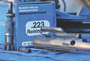 Even after almost 1,600 rounds, this weapon kept running on Black Hills remanufactured 55-grain FMJ.