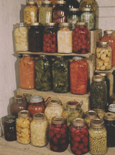 In WWII, even small Victory Garden plots produced a lot of food, which folks put by for the coming year with traditional methods. It's still a good idea, but if you anticipate earthquakes, store glass protected and lay in serious quantities. Photo: Library of Congress