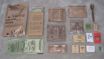 """Maybe a bit pricey for a big family's long-term supply, MREs or their civilian counterparts are handy for a """"go pack"""" or to always have in every vehicle. Photo: Wikipedia"""