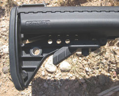 Although Magpul STR stock is standard, test rifle was equipped with Vltor stock.