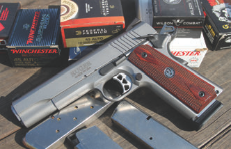 Loads fired in SR1911 ranged from 185 grain to 230 grain, with hollow points, semiwadcutters, and FMJ bullet profiles utilized.