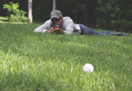 Hollow plastic golf balls make outstanding reactive targets that allow shooter to apply precision and quickly follow up, learning to drive the gun within positions. They're also addictive fun.