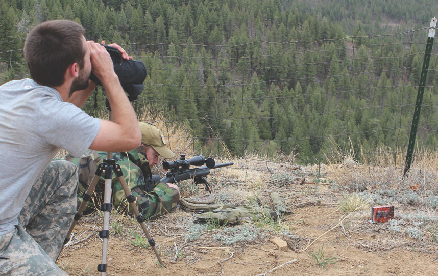 Using Superformance ammunition, Team Hornady engages 900+ yard target from a mountaintop.