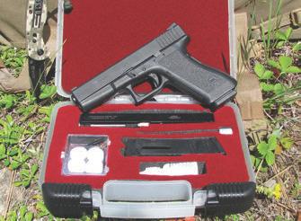 Glock 17 with Advantage Arms .22 LR conversion.