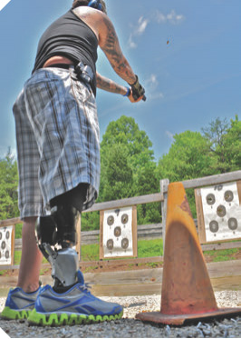 Even with the discomfort of being on a leg he'd never used before, this combat veteran did a great job of applying his newfound skills.