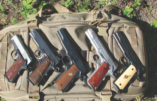1911-type handguns in calibers from .22 LR to 10mm—and they all work the same.