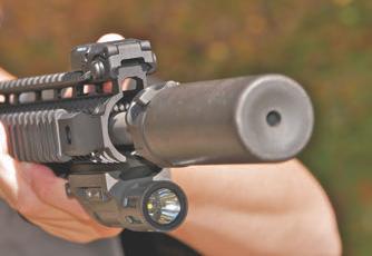Carbine was well balanced with SureFire Mini Suppressor.