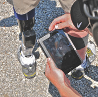 BiOM can be adjusted on the fly via Bluetooth-enabled tablet PC. This allows the foot's sensors to be tailored to the wearer's needs instead of the wearer learning to work within the confines of a preset program.