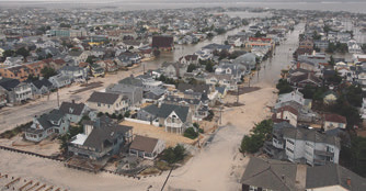 ri_3Aerial view of damage Hurricane Sandy caused to New Jersey coast.