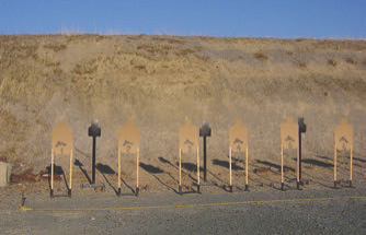 Mix of IPSC targets in simple target stands, plus one torso steel per two shooters, is very effective combination.