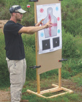 Instructor Tyler Grant explains sight alignment, sight picture, and bore offset at close ranges.