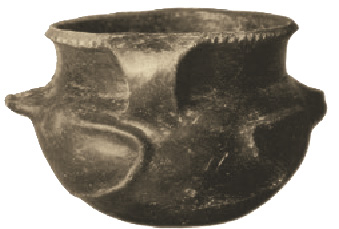"Small Mississippian vessel from Moundville, Alabama was made by coil method, then sculpted, embellished and burnished. Such fancy work was not commonly done on everyday cooking ware, but Southwestern Native Americans routinely decorated all their ceramics with ornate painted designs. ""Survival necessity"" ceramics would be kept as simple as possible to avoid pitfalls of building and firing complex shapes. Photo: C.B. Moore, via Wikipedia"