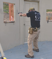 Standing back from the window while engaging targets maximizes available cover while reducing shooter's signature.