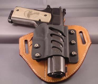 Patriot holster in standard OWB, pancake mode.