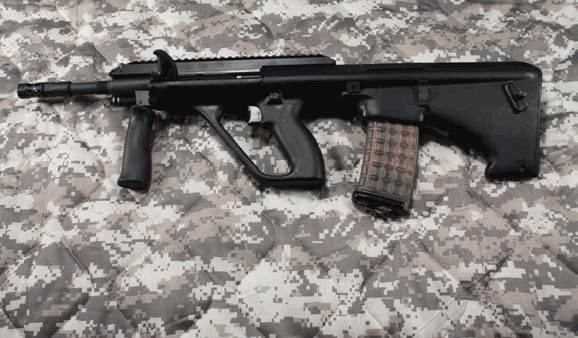 Left side of AUG A3 SA. Photo: Jessie Indracusin