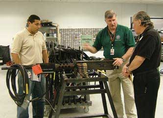This .50-caliber machinegun is being modified to work with the system.