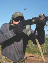 Accessories give shooter greatly improved handling and control over the rifle.